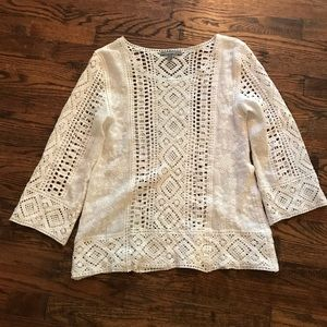 Cotton lace tunic from Anthropologie, size XS.